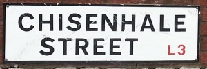 Chisenhale St sign