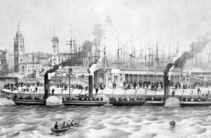 MERSEY COLLISION BETWEEN STEAMERS