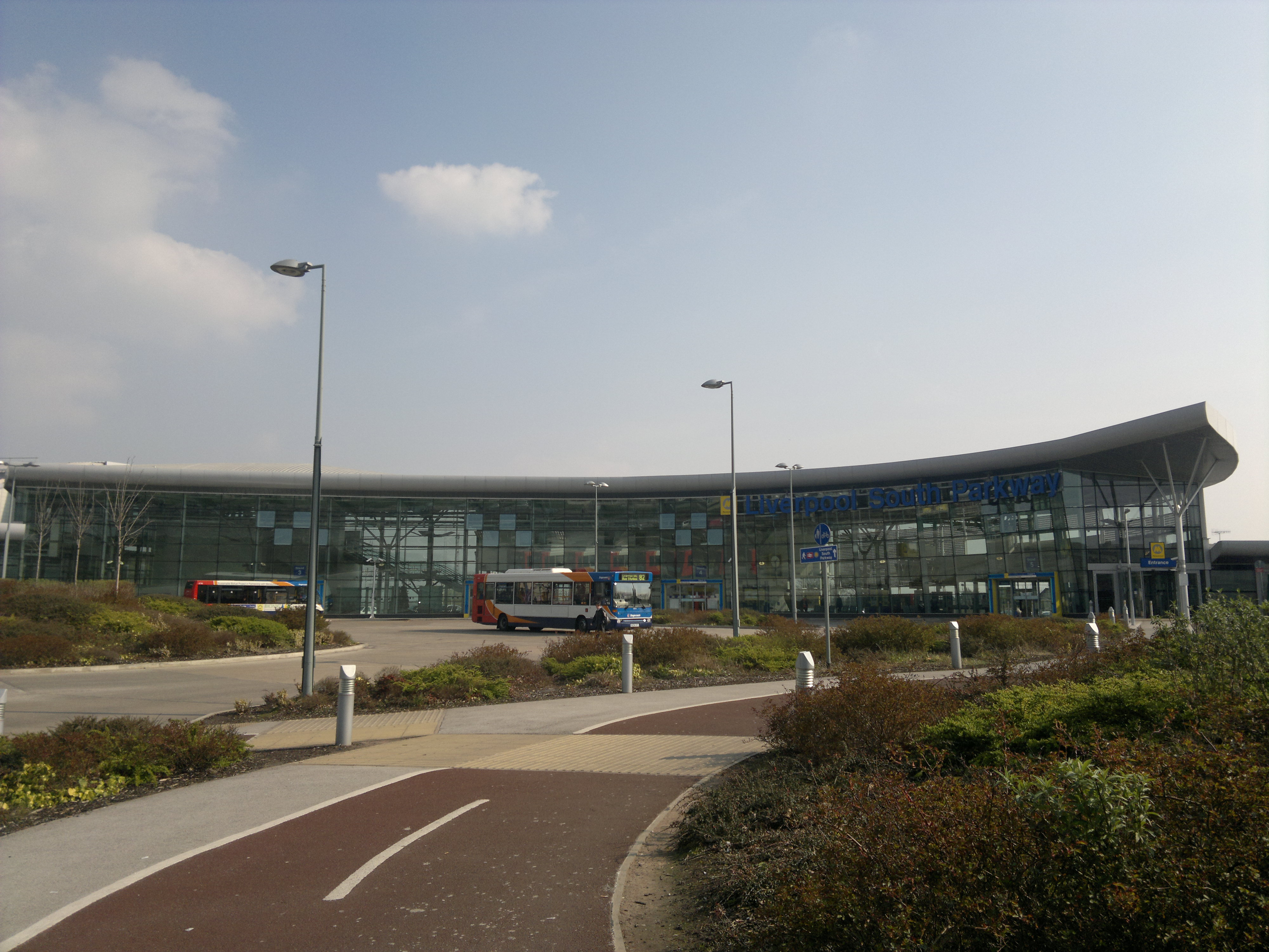 Modern railway station in Liverppol