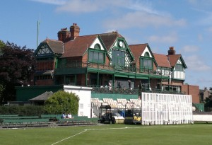 THE FOOTBALL INTERNATIONAL AT A CRICKET GROUND