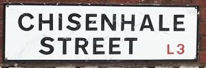 Chisenhale St sign