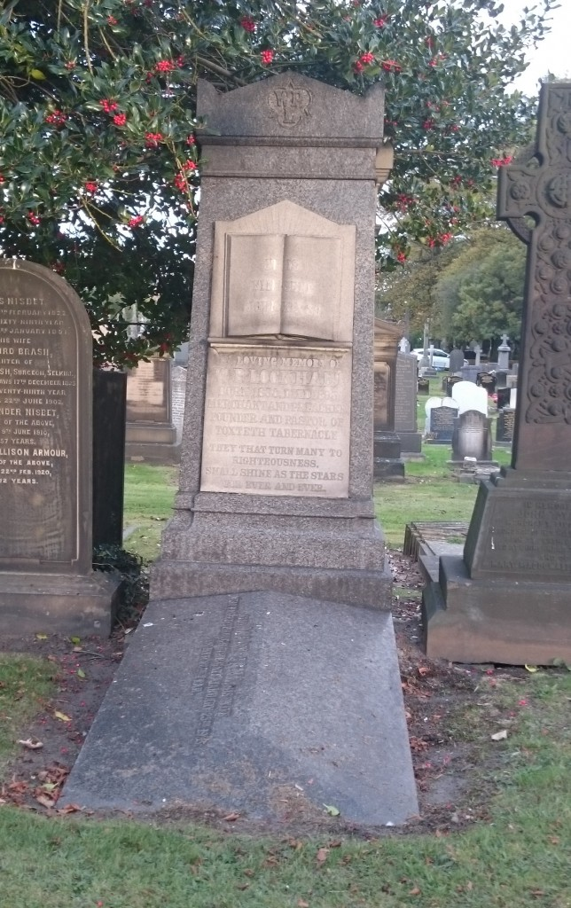 W P Lockhart grave Toxteth cemetery (Toxteth Tabernacle founder)