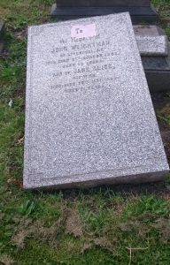 John Weightman Grave Toxteth Cemetery
