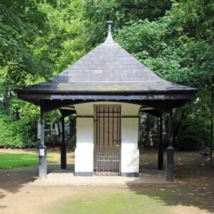 The Old Gardners hut at Falkner Square, Liverpool