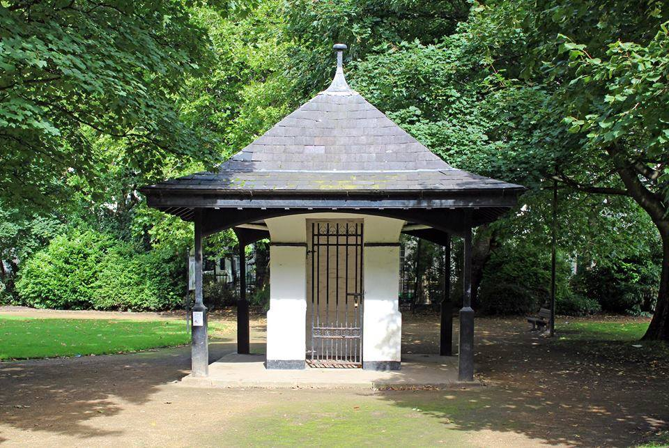 The Old Gardners hut at Falkner Square, Liverpool